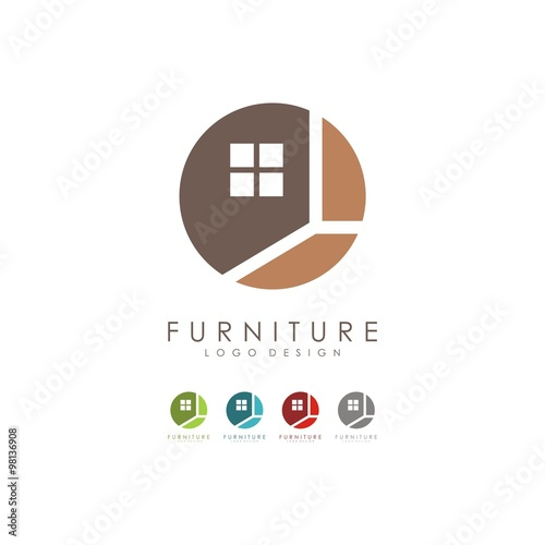 Furniture Logo Window Logo Design Logo Vector Stock