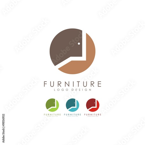Furniture Logo Door Logo Design Logo Vector Stock