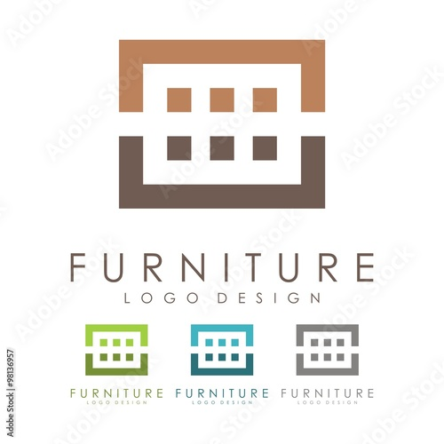 Furniture Logo Design Logo Vector Stock Image And