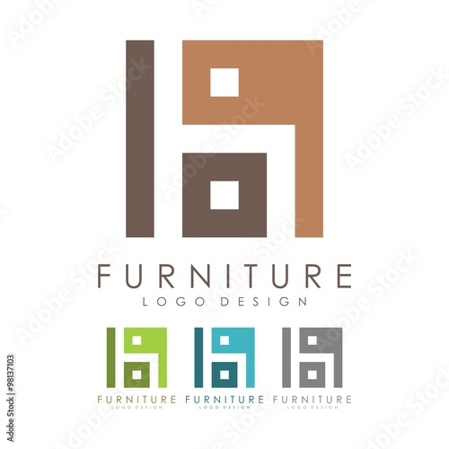 Furniture Logo Seat Logo Design Logo Vector Stock