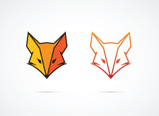 Vector image of an fox face design on white background