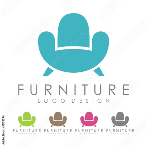 Furniture Logo Sofa Logo Design Logo Vector Stock