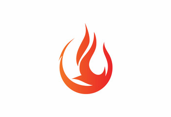 Flame fuel oil abstract logo