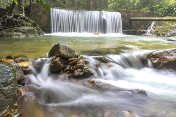 Natural waterfall in tropical forest