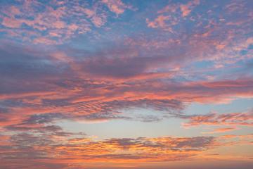 Colorful of sunrise sky