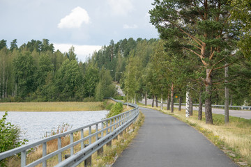 The road between islands,Lappeenranta,Finland