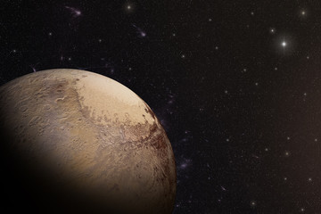 Wall Mural - The Pluto shot from space showing all they beauty. Extremely detailed image
