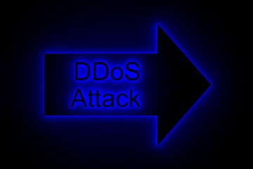 DDoS attack presents in the neon glow