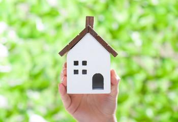 住宅イメージ 緑の背景