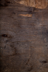 Old wooden table or board for background. Space for text