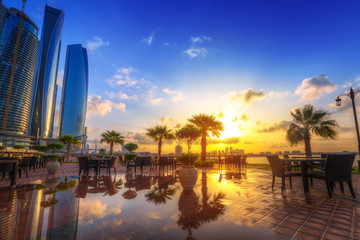 Abu Dhabi, the capital of United Arab Emirates at sunrise