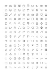 150 Thin Line Stroke Icons