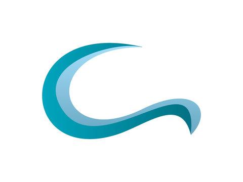 C Letter Wave Logo