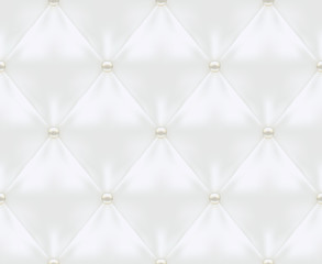 White Quilted Seamless Vector Pattern