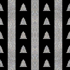 Festive seamless geometric silver textured pattern