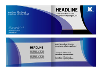 Bi-Fold Brochure Design. Corporate Leaflet, Cover Design Template