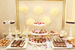 Delicious sweets on candy bar