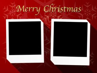 christmas theme polaroid photo templates 2-5