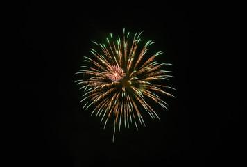 Fireworks light up the sky