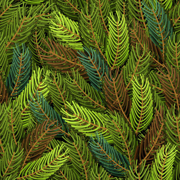 Seamless spruce pattern. Military background. Army structure fro