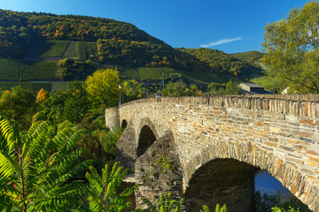 Old bridge at Dernau, Ahr region, Germany