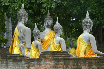 Sculpture of Buddha in Ayutthaya, Thailand