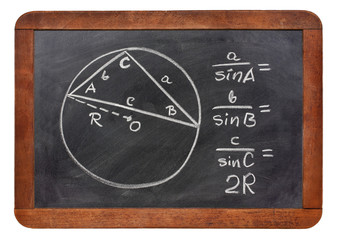 Law of sines on blackboard