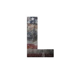 American vintage flag in letter l