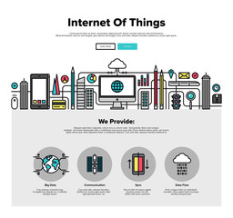 Internet of things flat line web graphics