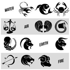 Black Zodiac Star Signs