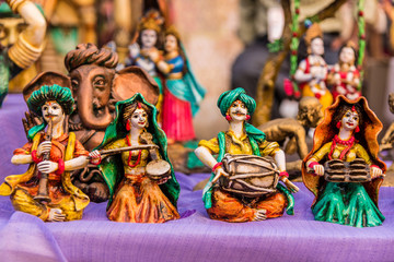 Miniature folk musician dolls