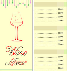 Menu Card Wine List