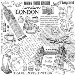 London hand drawn