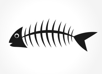 Fish bone. Vector