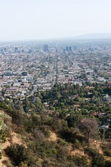 Los Angeles view from Griffith Park, USA