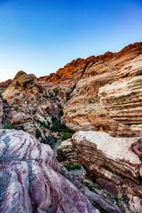 Red Rock Canyon desert ravine near Las Vegas