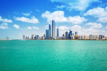 Cityscape of Abu Dhabi at Persian Gulf, UAE