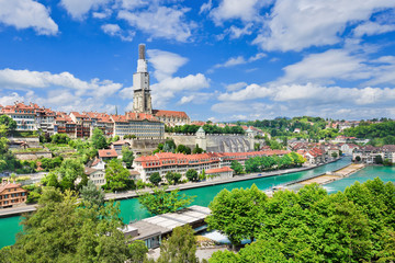 View on the enchanting old town of Bern, capital of Switzerland