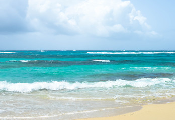 Beautiful tropical beach on a small remote Great Corn Island in the Caribbean Sea, Nicaragua