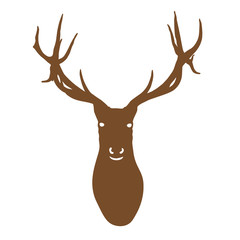 brown silhouette of deer head