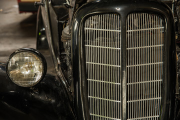 The grille of the car. Headlamp
