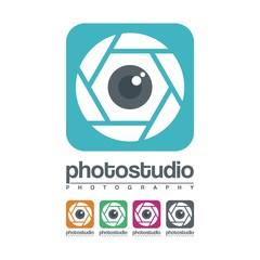 Eye Lens Camera Photography Logo Vector