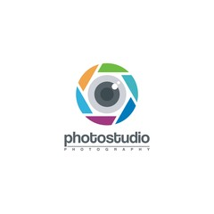 Eye Lens Camera Photography Logo Vector