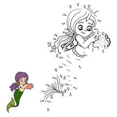 Numbers vector game (mermaids)