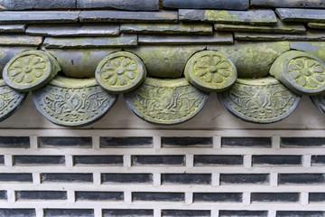 traditional korean hanok tiles