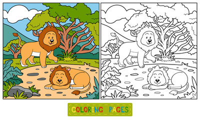 Coloring book (lions)