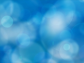 Abstract blue background with particles