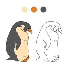 Coloring book (penguin)