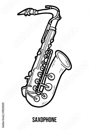 Simple Saxophone Drawing