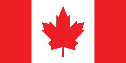 Vector of Canadian flag.